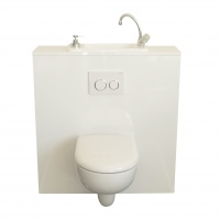 WiCi Next, hand-wash sink incorporated in Geberit wall-hung toilet