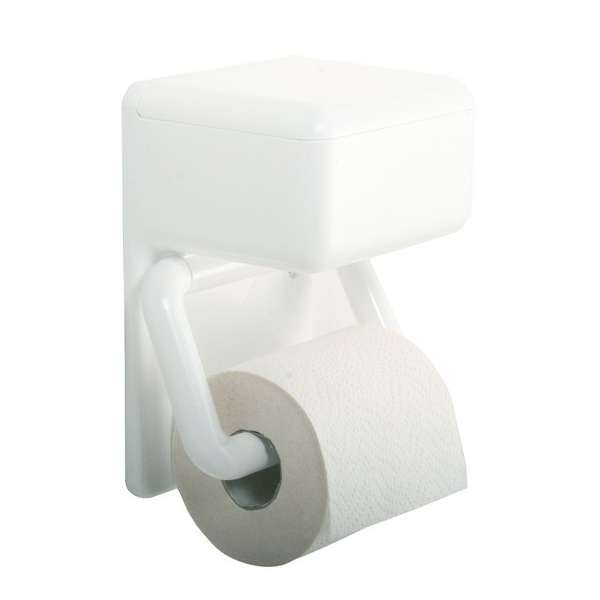 Distributeur papier wc avec r serve pour lingettes - Distributeur papier wc original ...