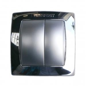 Geberit bi-chrome pneumatic flush control plate