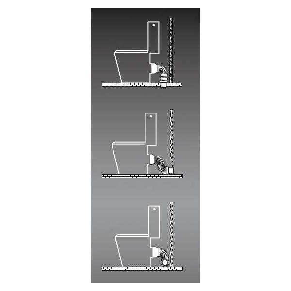biegbares abflussrohr ceta multiforme f r stand wc. Black Bedroom Furniture Sets. Home Design Ideas