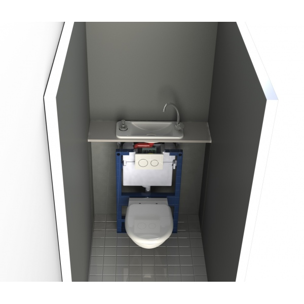Wc suspendu geberit avec lave main compact int gr wici next - Wc suspendu lave main ...