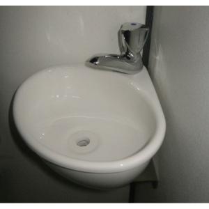 WiCi Mini corner basin - single part wall support