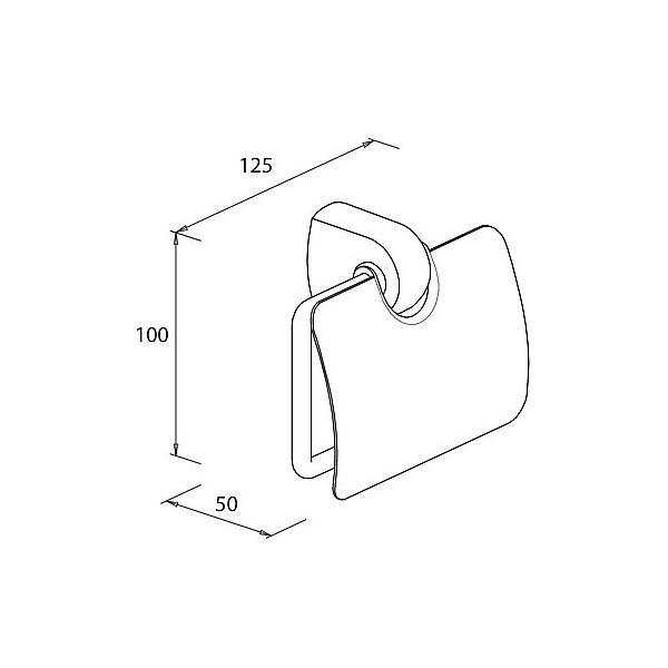 support de papier wc chrom 233 avec couvercle protecteur