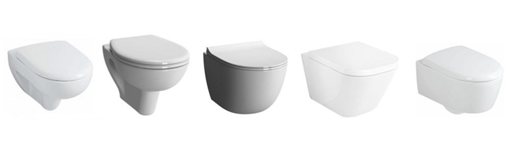 Wall mounted toilet bowls