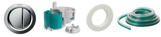Accessoires bouton pneumatique rond chromé brillant