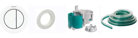 Accessoires bouton pneumatique rond blanc