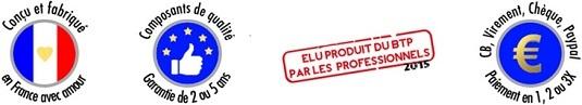 Gamme de WC lave-mains WiCi Concept : conçus et fabriques en France, elus produits du BTP 2014, garantie intégrale 2 ans