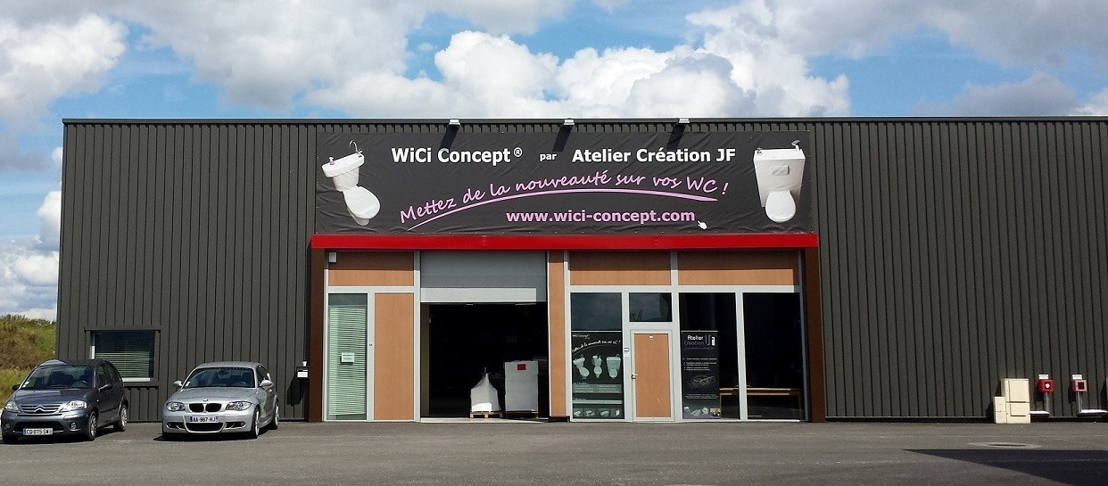 Le batiment d'Atelier Creation JF - WiCi Concept les WC lave-mains