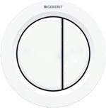 Bouton pneumatique rond blanc