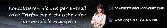 Kontaktieren Sie uns per E-mail oder Telefon für technische oder kommerzielle Frage(n) !