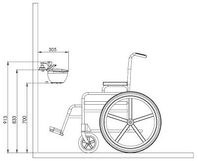 Plan WiCi Mini PMR avec fauteuil