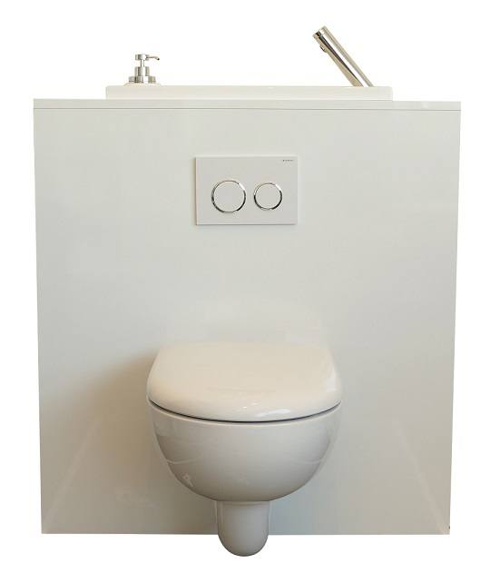 Wc suspendu design avec lave main wici bati - Wc suspendu lave main ...