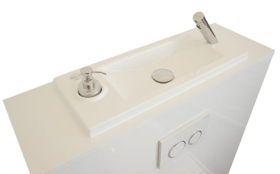 WC suspendu avec lave-mains WiCi Bati 2