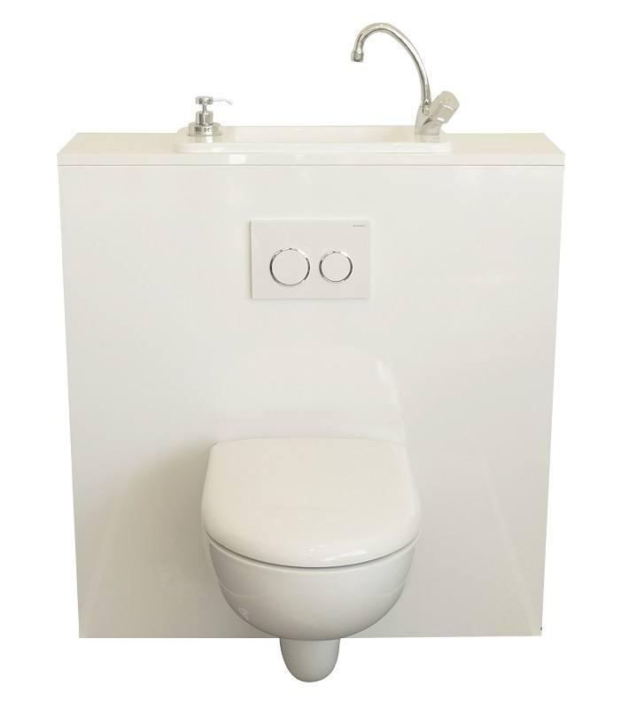 WC suspendu avec lave-mains compact WiCi Next blanc 1