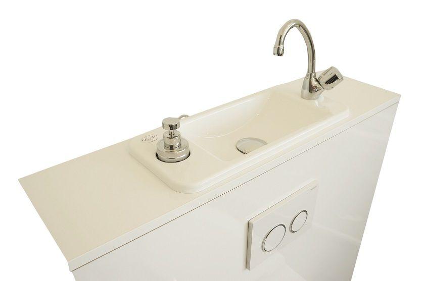 WC suspendu avec lave-mains compact WiCi Next blanc 2