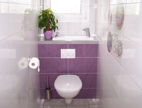 Pretty WiCi Boxi, wall toilet with integrated sink
