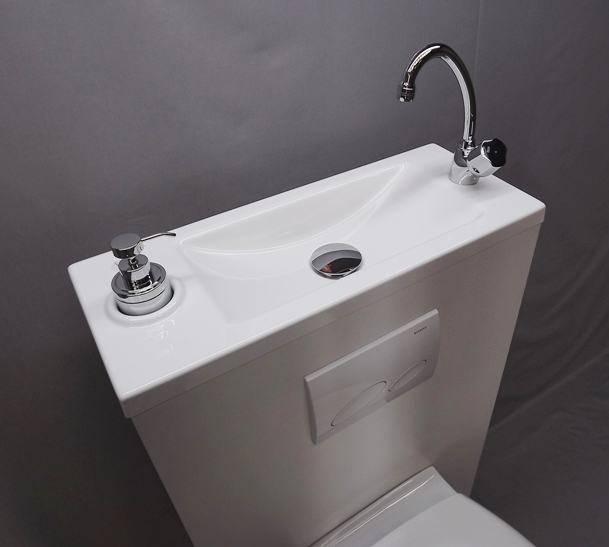 WiCi Boxi Washbasin Design 1 with its original tap