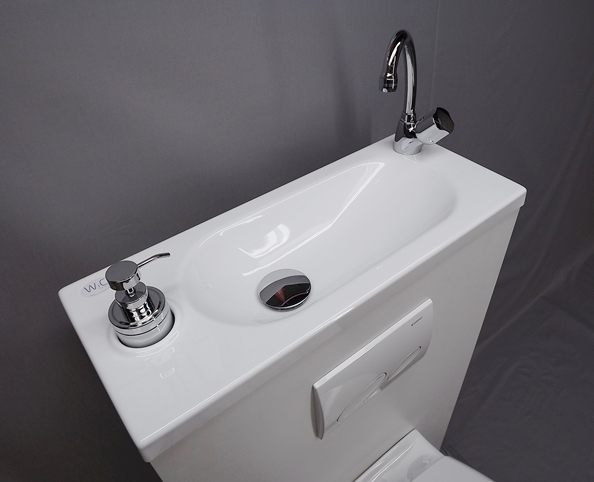 WiCi Boxi Washbasin Design 2 with its original tap