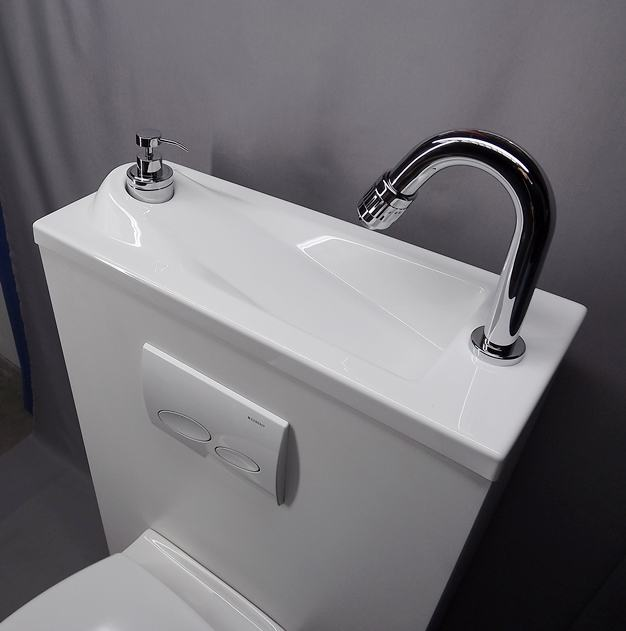WiCi Boxi Washbasin Design 3 with its original tap