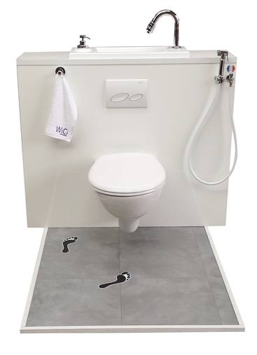 WiCi Boxi Wall-Mounted WC with Built-In Wash Basin