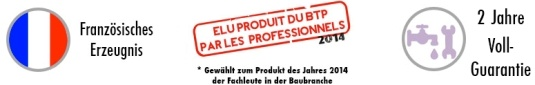 Produktpalette auf Handwaschbecken fur WC : franzosisches Erzeugnis, gewahlt zum Produkt des Jahres 2014, 2 Jahre Voll Guarantie