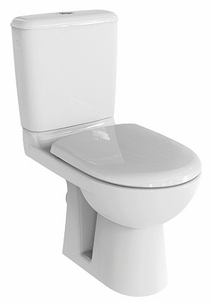 Selles Royan 6 Rimfree toilet pack, available as an option with a WiCi Mini basin
