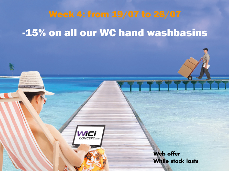 WiCi Concept sales: this week, -15% on all our WC hand washbasins!