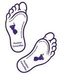 Fußabdrücke Modell 3