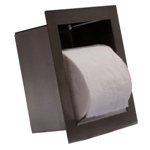 Recessed toilet paper holder for Wall-hung toilets