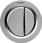 PNEUMATIC round buttons : mat chrome