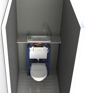 Actualit s des wc lave mains wici concept - Petit lave main wc avec meuble ...