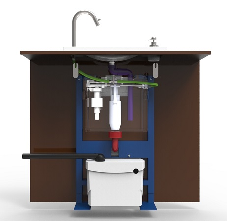 Actualit s des wc lave mains wici concept - Installer un sanibroyeur ...