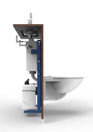 Actualit s des wc lave mains wici concept - Evacuation sanibroyeur wc ...