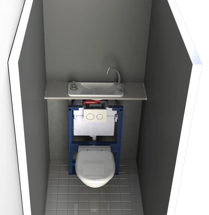 Wc suspendu avec lave mains compact galerie page 2 for Pose wc suspendu geberit