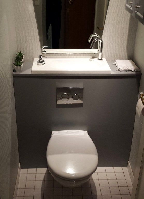 wc suspendu avec vasque - galerie | wici bati
