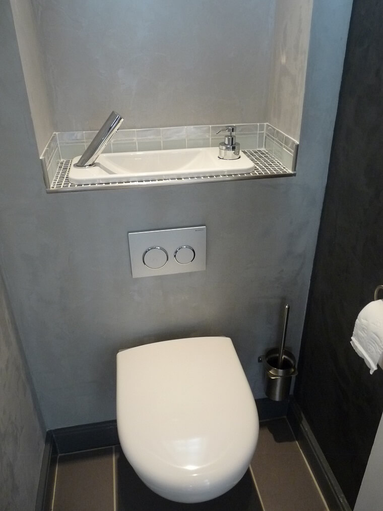 Wc suspendu avec lave mains compact galerie wici next - Amenagement wc avec lave mains ...