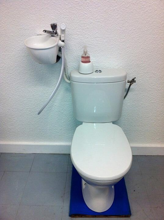 Douchette hygi ne wc galerie wici concept - Wc avec douchette anale ...
