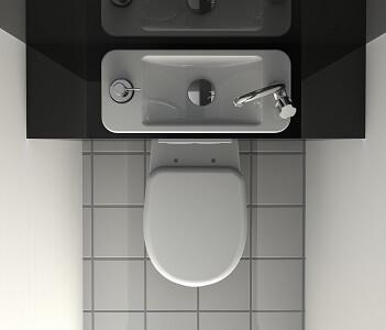 wc suspendu avec lave mains gain de place galerie. Black Bedroom Furniture Sets. Home Design Ideas