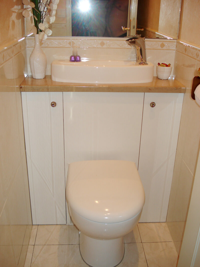 Wici concept meuble wc lave mains lavabo galerie photos for Wc gain de place villeroy et boch