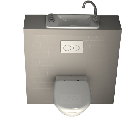 Configurer son wc suspendu avec lave mains wici concept - Wc suspendu lave main ...