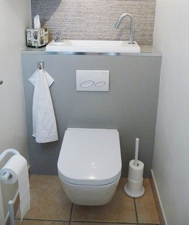 Hauteur d un wc suspendu latest dimension toilette - Hauteur standard wc suspendu ...