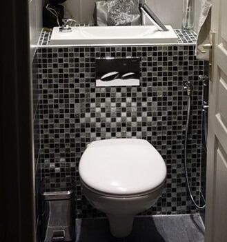 Habillages pour WC suspendus Geberit avec lave-mains intégré