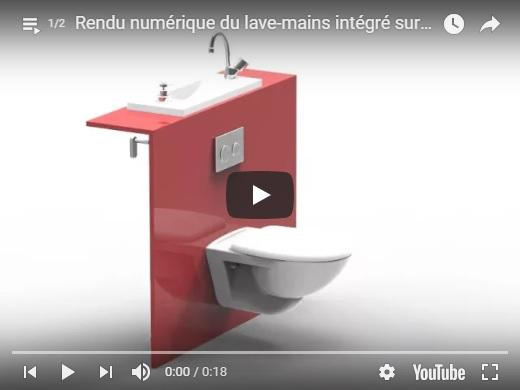 Toilette Suspendu Geberit Avec Lavabo Integre Wici Bati