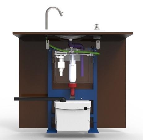 Installer un wc lave mains avec un sanibroyeur for Lavabo exterieur