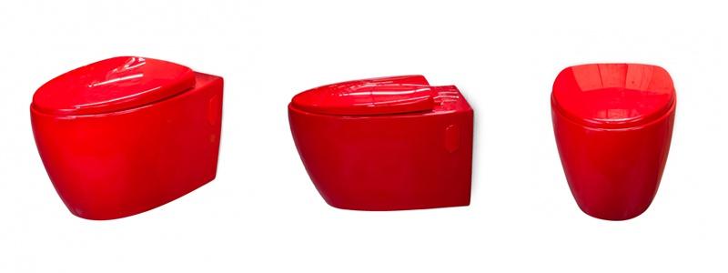 Cuvettes color es loobow pour wc suspendu wici concept - Wc suspendu de couleur ...