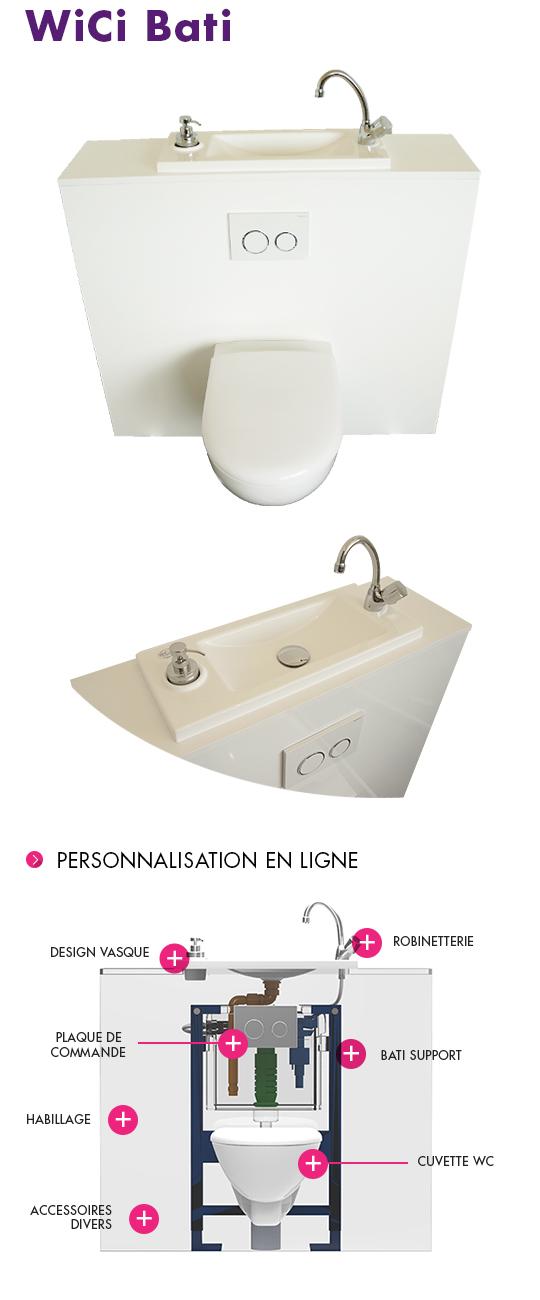 Bati wc - Toilette suspendu pas cher ...