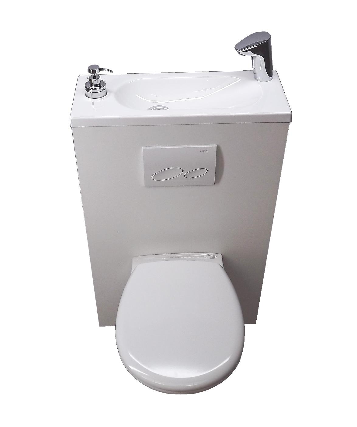WC avec lave mains intégré - WiCi Bati
