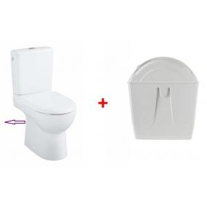 Chasse d'eau rotative avec cuvette WC compacte