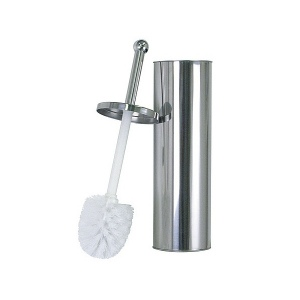 Standing toilet brush holder in stainless steel