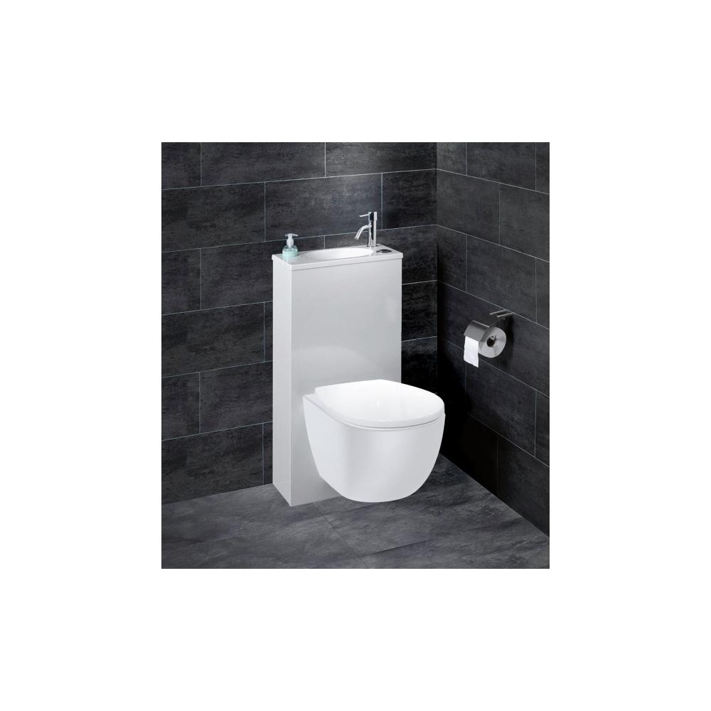 pack wc trio 2 siamp wc suspendu avec petit lave mains. Black Bedroom Furniture Sets. Home Design Ideas